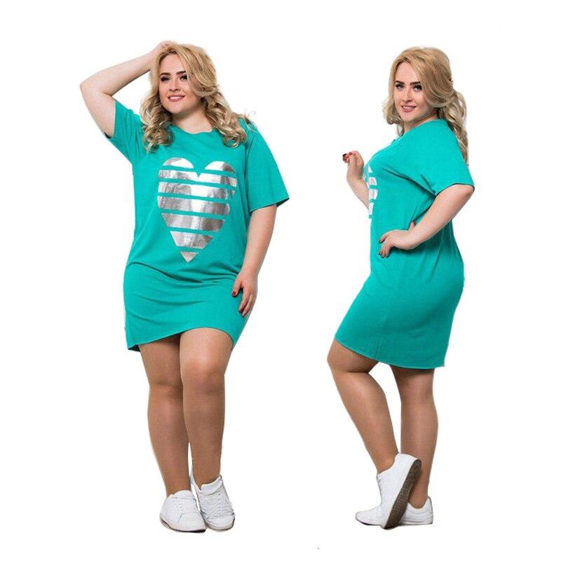 2020 nuevas mujeres Vestidos de talla grande vestido de verano Maxi oversize 6XL cuello redondo Casual recto Patchwork por encima de la rodilla Mini Vestidos de fiesta