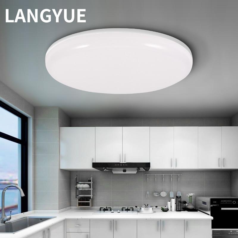 Светодиодный потолочный светильник 220 В светодиодный круглый панельный светильник 15/20/30/50 Вт домашний кухонный светильник для ванной комнаты гостиной потолочный светильник s
