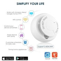 WiFi Smoke Detector Sensor Smart Home Automation Security Alarm detector for smart life