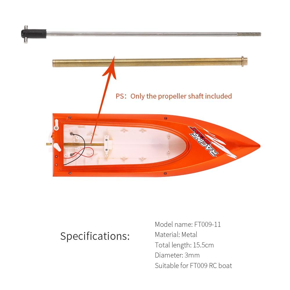 Original Feilun FT009-11 hélice barco con eje de propulsión pieza de repuesto para Feilun FT009 accesorios de barco teledirigido