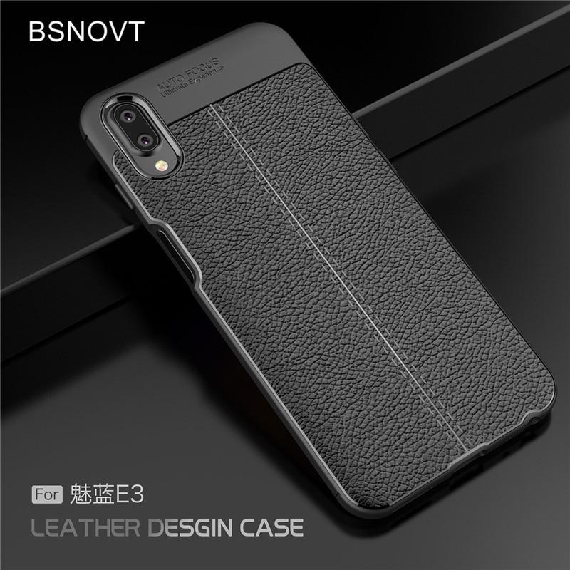 For Cover Meizu E3 Case Soft Silicone PU Leather Shockproof Anti-knock Case For Meizu E3 Cover For M