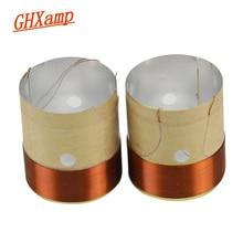 Bobine de voix basse GHXAMP 25.5MM Core 8ohm en aluminium blanc avec trou de sortie dair sonore pour réparation de haut-parleur de 4 pouces à 10 pouces bricolage 1 paire