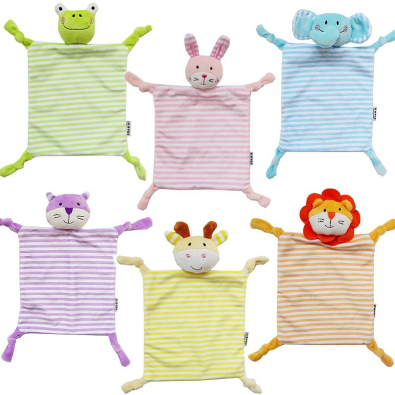 Newborns Infant Reassure Towel Baby Toys animal Elephant lion frog Soft Comforting Doll plush Appease Educational Plush Toys