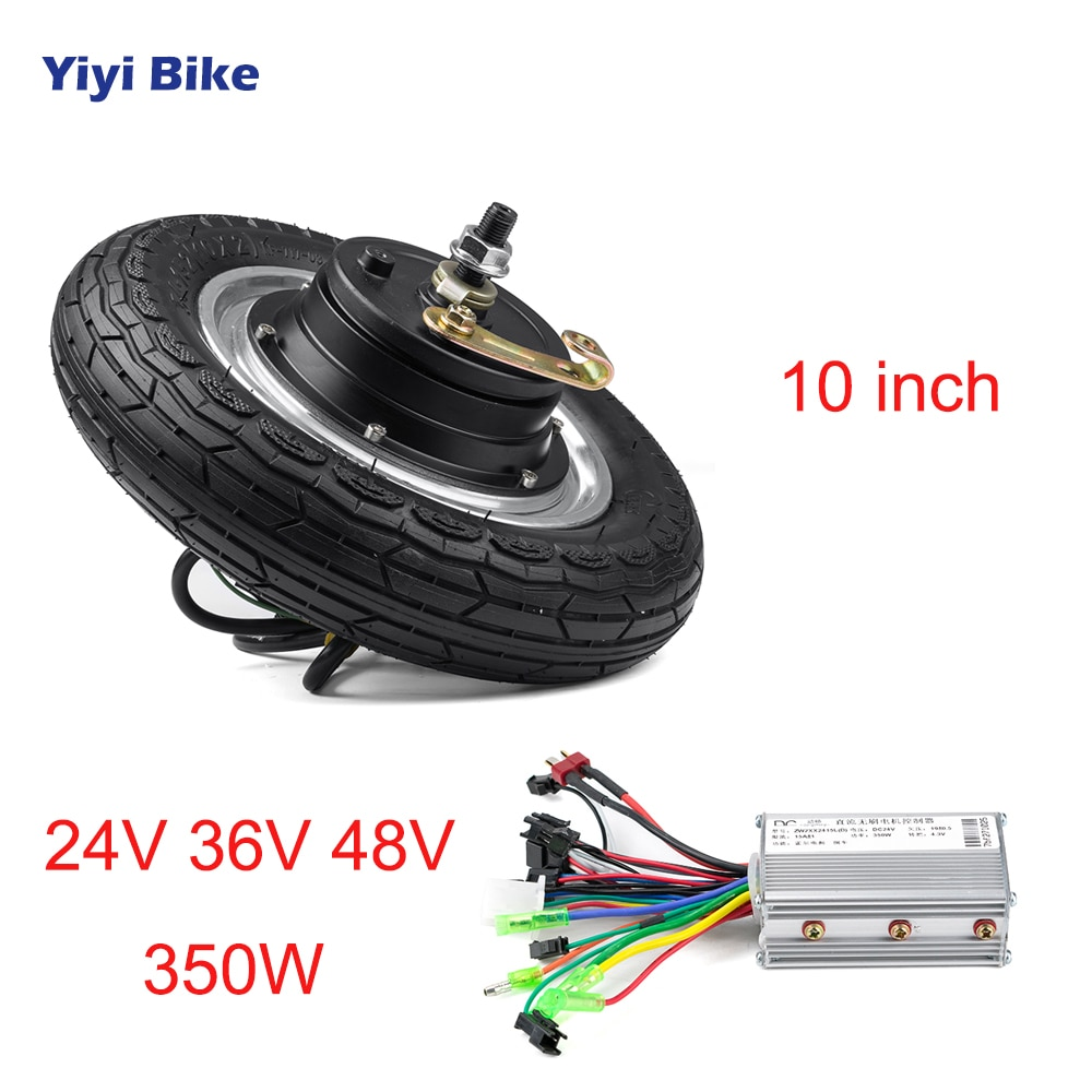 10 inch Electric Bicycle Kit 24V 36V 48V Motor Wheel 350W Rear Hub Motor with Controller Adult Electric Scooter Electric Wheel