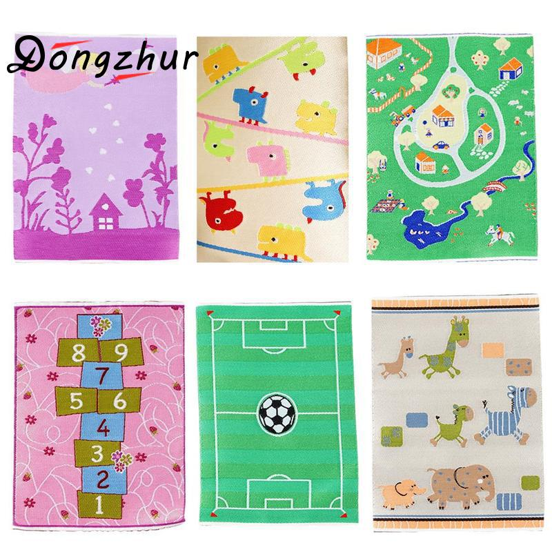 Doll House Cartoon Pattern Turkish Carpet Dollhouse Miniatures 112 Accessories Carpet Rayon Thread Cartoon Mini Carpet 7 Colors