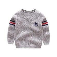 New Cotton Baby Sweater Cartoon Long Sleeve Button Sweaters Single Row Button Cardigan Autumn Winter Crochet Baby Boy Sweaters