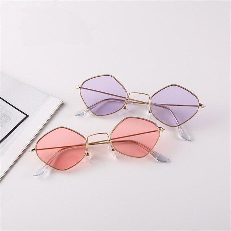 New Sexy Fashion Polygon Sunglasses Women Brand Designer Vintage Clear Sun Glasses Couple Eyewear oc