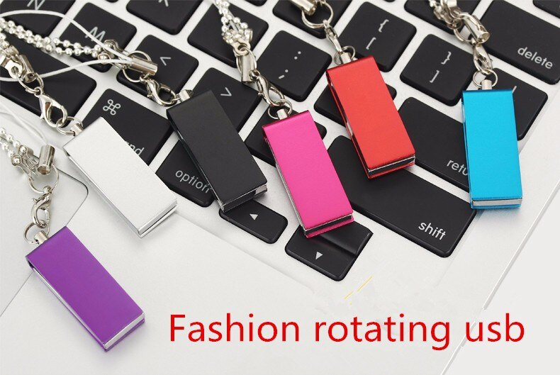 Fashion rotating usb memory stick usb 2.0 flash drive 128gb 64gb 32gb  usb flash disk pen drive gadget flash drive 10PSC/1bag