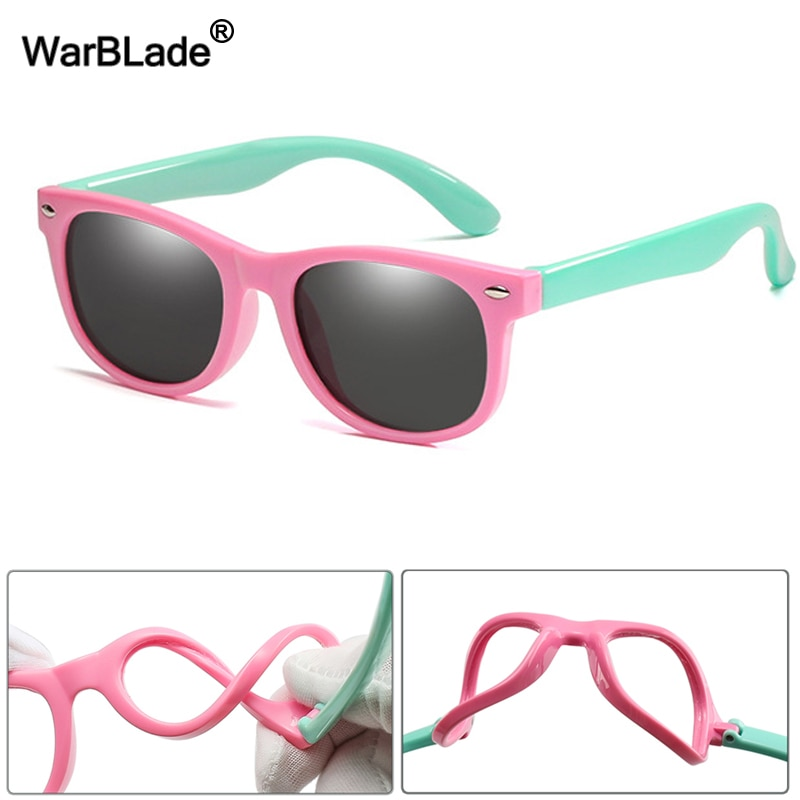 WarBlade New Kids Polarized Sunglasses TR90 Boys Girls Sun Glasses Silicone Safety Glasses Gift For