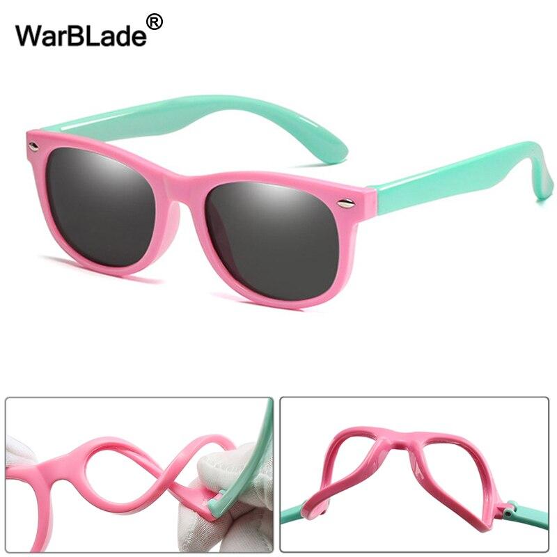 WarBlade Новые Детские поляризованные солнцезащитные очки TR90 для мальчиков и девочек, солнцезащитные очки, силиконовые защитные очки, подарок для детей, детские очки UV400