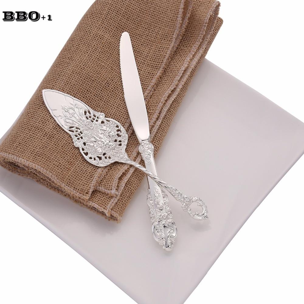 سكين كعكة الزفاف الباروكي مقاس 8.25 بوصة ، مجموعة مجرفة ، سكين حلوى فضي ، قاطع بيتزا ، ملعقة نقل الكيك ، أدوات مائدة الحفلات