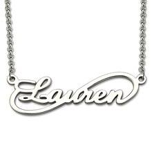 AILIN personnalisé infini collier nom personnalisé collier en argent Sterling infini symbole nom pendentif unique infini bijoux