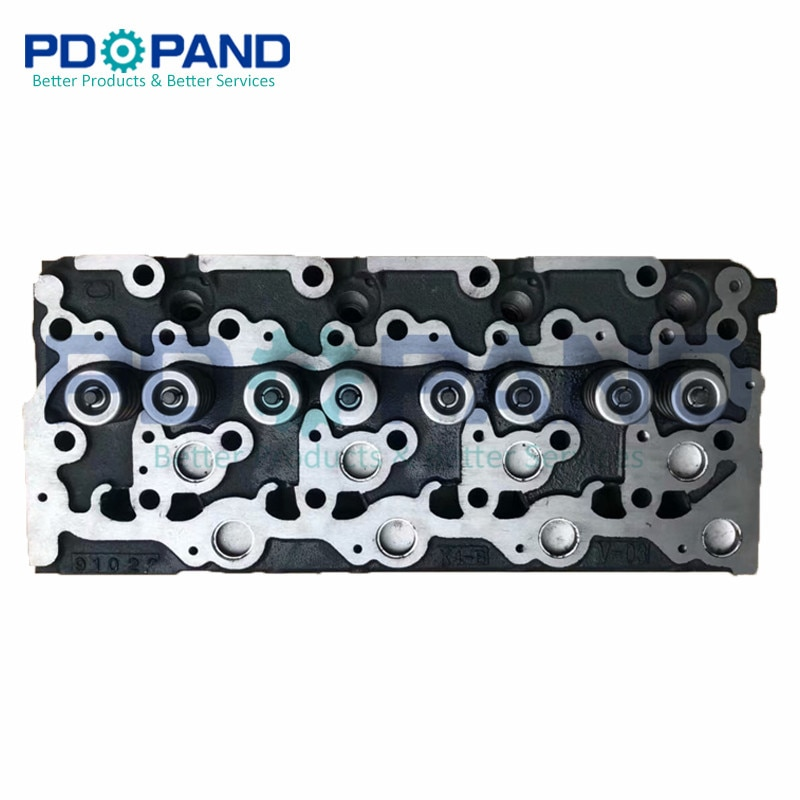 Ferro Fundido Peças de Motor Diesel Assy Cabeça Do Cilindro Completo para KUBOTA V2203 KX155-3S 8 v Conjunto de Cabeça com Válvulas