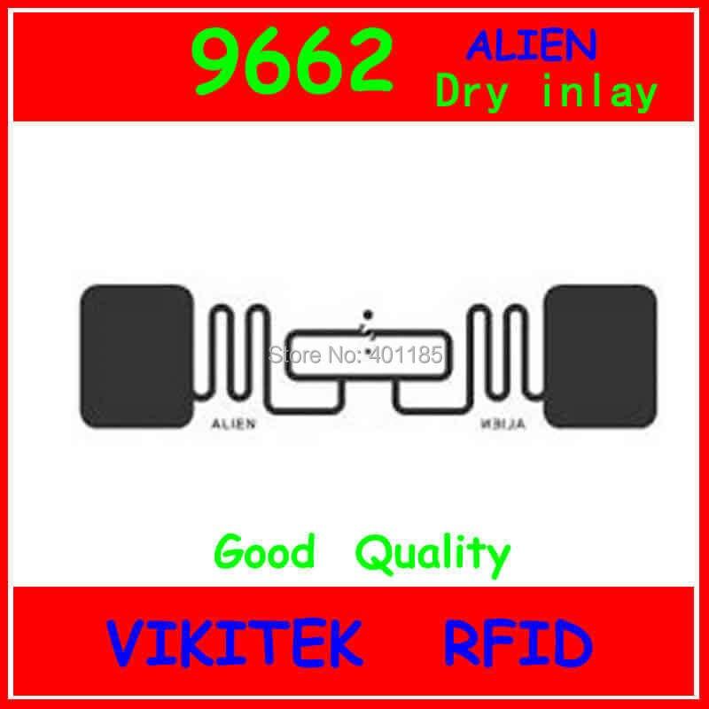 Extranjero autorizado 9662 UHF RFID dry inlay 860-960MHZ Higgs3 915M EPC C1G2 ISO18000-6C se puede utilizar para etiqueta y etiqueta RFID