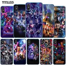 Thanos Marvel Avengers Iron Man Luxury Case For Xiaomi Redmi 4X 4A 5A 5 Plus Note 7 4X 5A 5 6 Pro 6 6A 6Pro 5X 6X 8 A2 Lite Etui
