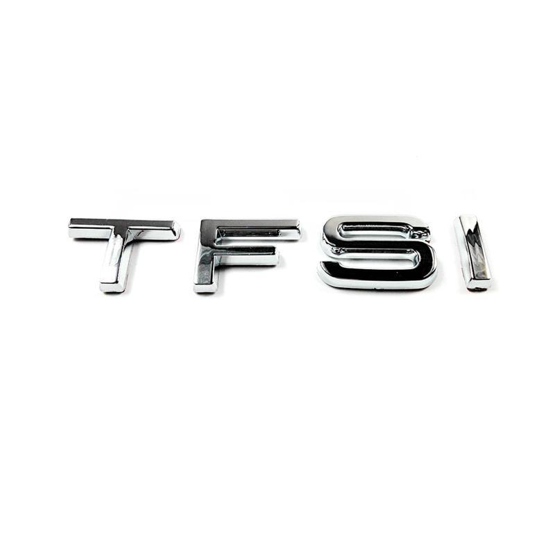 1 unids/lote, rápido, envío gratis, ABS TFSI, insignia de galvanoplastia cromada, emblema, pegatina, logotipo