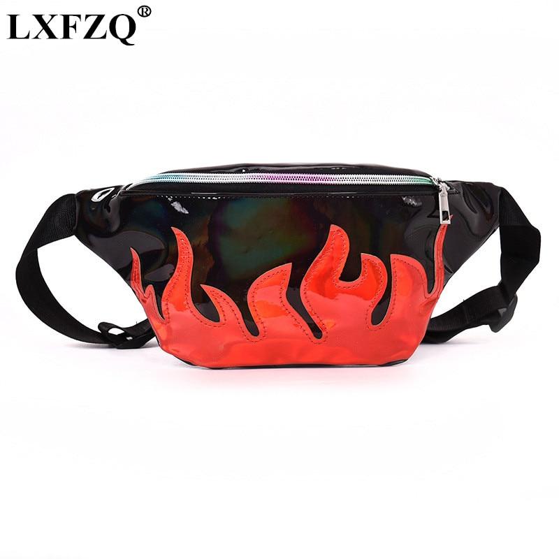 LXFZQ новая поясная сумка полиуретановая сумка на пояс лазерный кошелек heuptas сумка для ног Светоотражающая поясная сумка для женщин голографи...