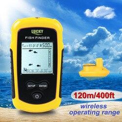 Lucky FFW1108-1 inventor de peixes sem fio sonar fishfinder 40m profundidade gama oceano lago mar pesca ferramentas