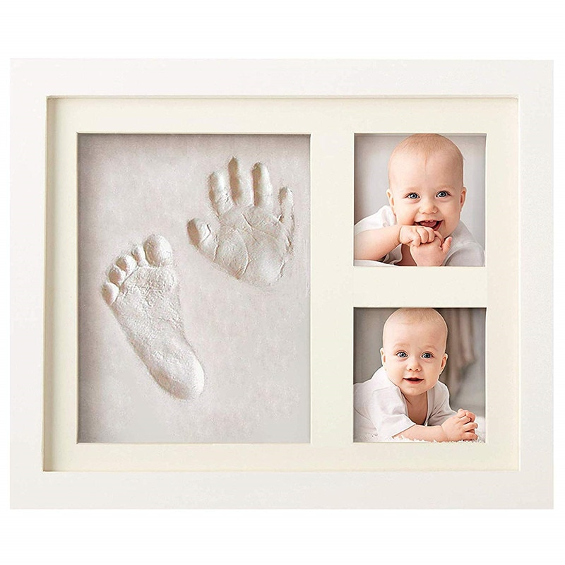 baby handprint footprint frame newborn footprint kit footprint child special gift for births and baptisms safe clean non toxic Baby Handprint footprint frame  Newborn footprint kit Footprint child Special gift for births and baptisms Safe Clean Non-Toxic