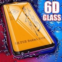 6D полный клей покрытие из закаленного стекла для Xiao mi Pocophone F1 mi 9 9 T 8 A2 Lite mi x 3 Red mi Note 7 6 5 K20 Pro Защитная пленка для экрана