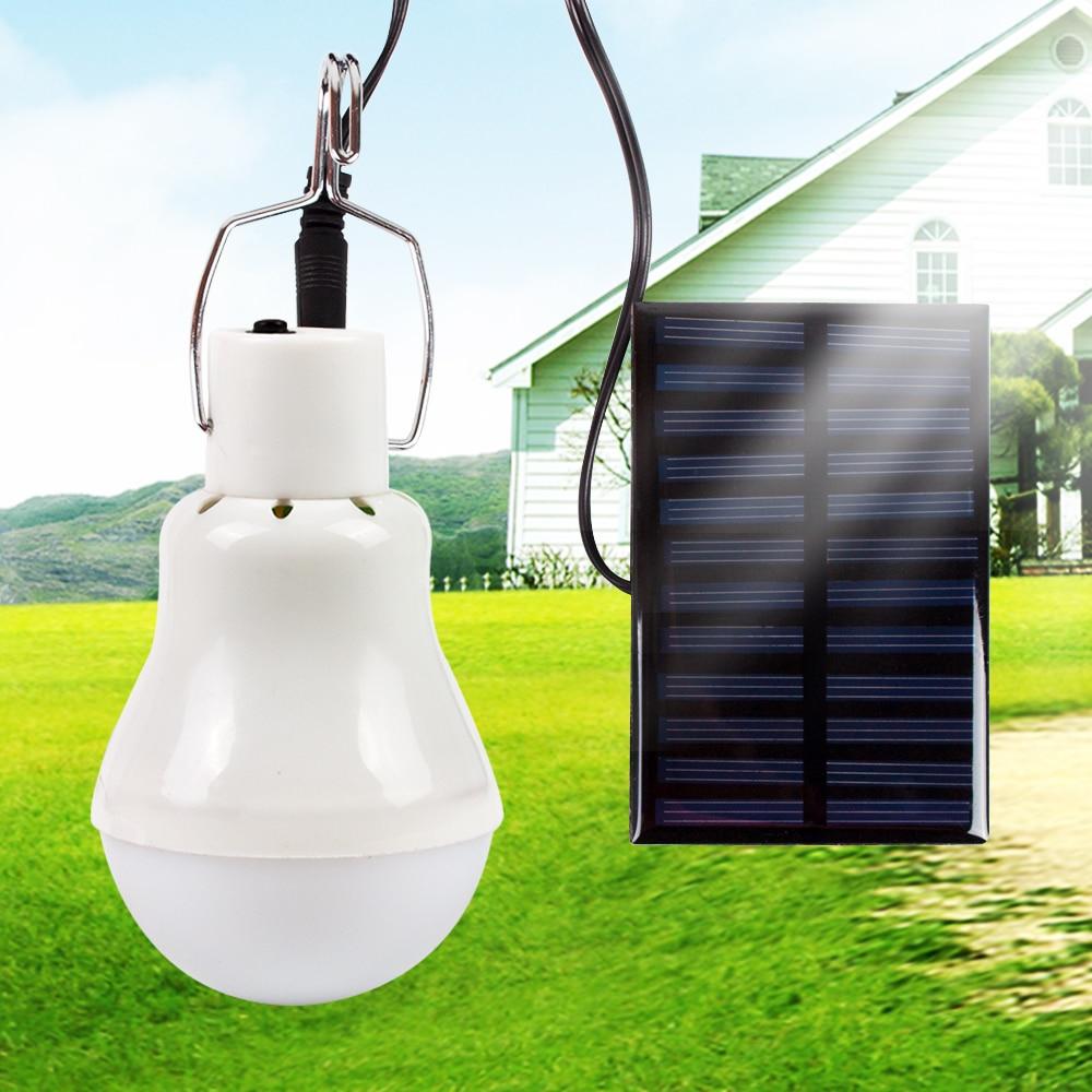 Luces solares 15W 130LM energía Solar al aire libre lámpara Solar bombilla portátil Lámpara de energía Solar iluminación Led