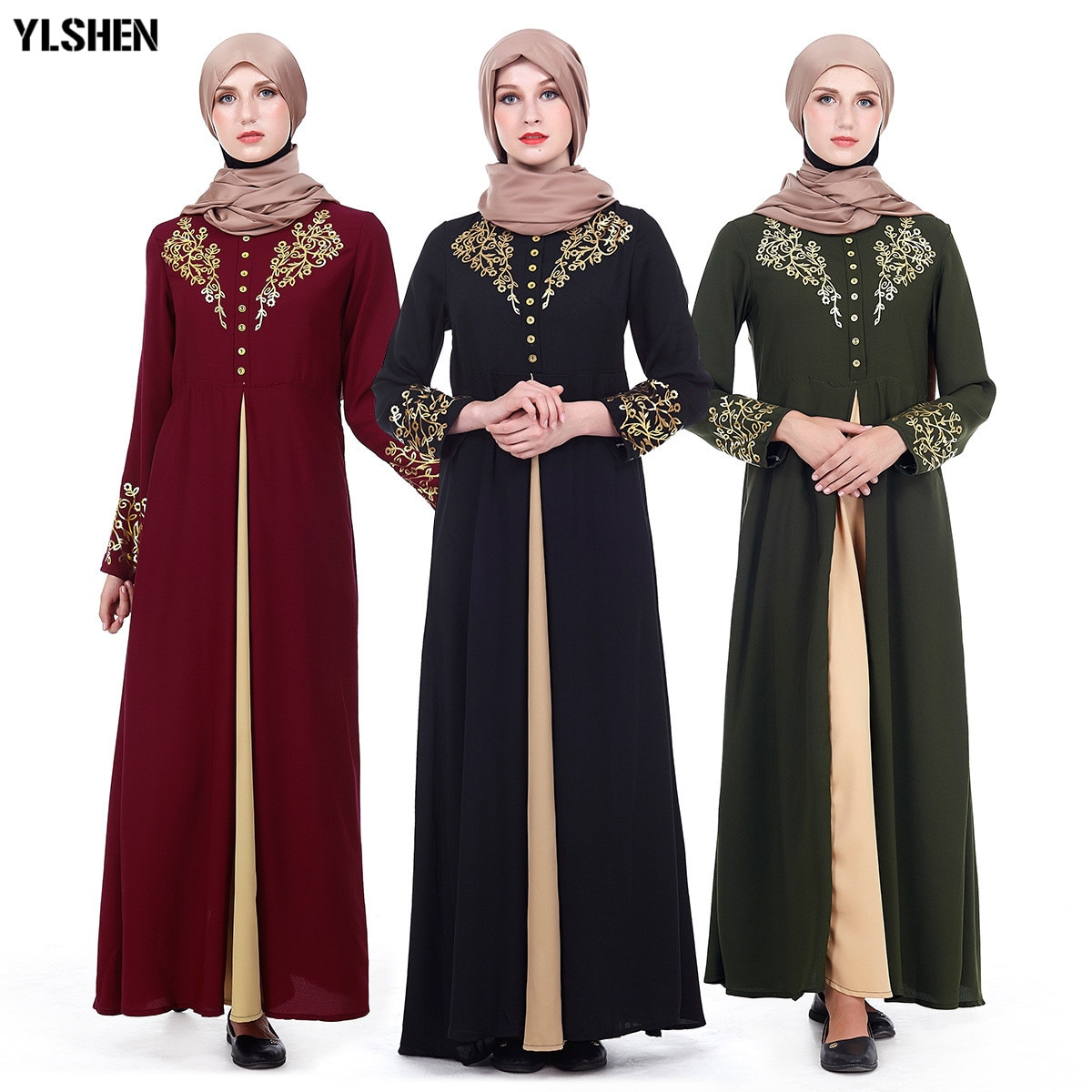 Grande taille musulmane Abaya dubaï femmes Maxi robes Ramadan Moslim Robe de prière Hijab Robe caftan islamique turquie vêtements islamiques