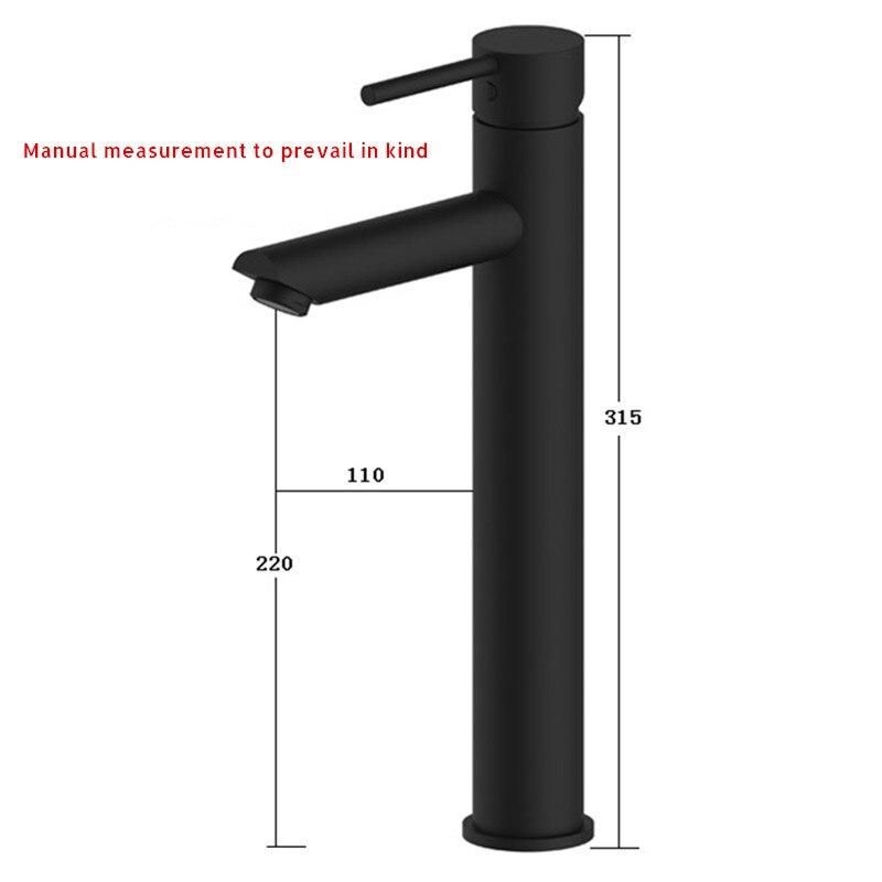 Купить с кэшбэком Smesiteli 10 Year Warranty Modern Matte Black Finish Single Handle Solid Brass Bathroom Vessel Sink Faucet One-Hole Mixer Taps