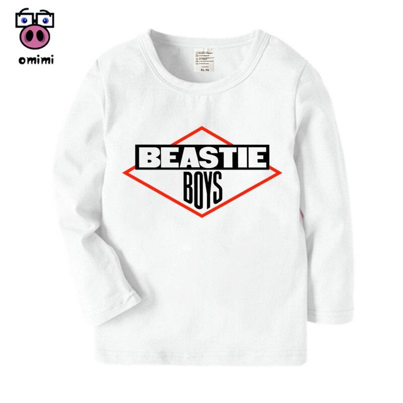 Chico de manga larga Beastie Boys de dibujos animados impreso T camisa niños niñas Casual otoño Tops invierno chico s camiseta