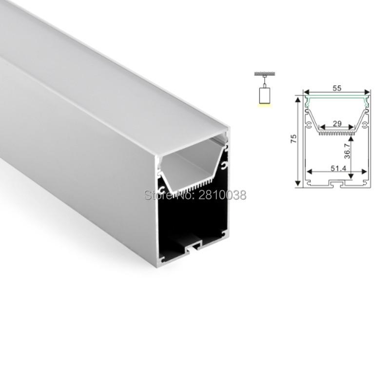 100 X1 M Sets/Lot Office lighting led channel and large U aluminum profile led strip light for pendant or hanging lights