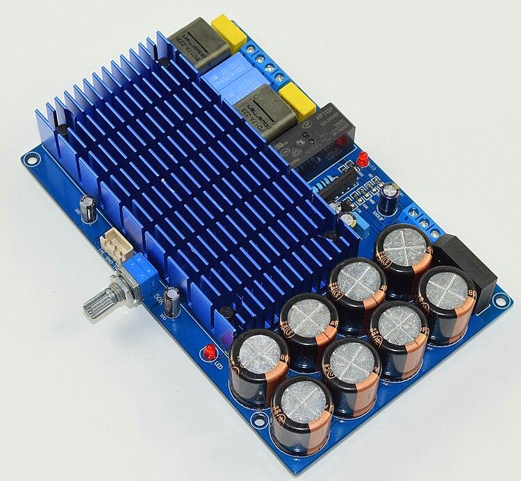Classe de alta potência d tda8954 2.0 placa amplificador potência áudio digital alta fidelidade 210 w + 210 w