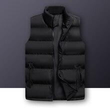 New Sleeveless Vest Jacket Mens Autumn Winter Vest Men Stylish Cotton Vest Coat Thicken Waistcoat Male Gilet Homme Plus Size 6XL