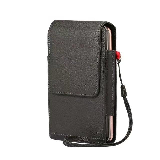 Funda Universal vertical de doble capa, Funda de cuero, funda, Clip de cinturón para Blackberry KEYone DTEK70 Mercury DTEK60 DTEK50