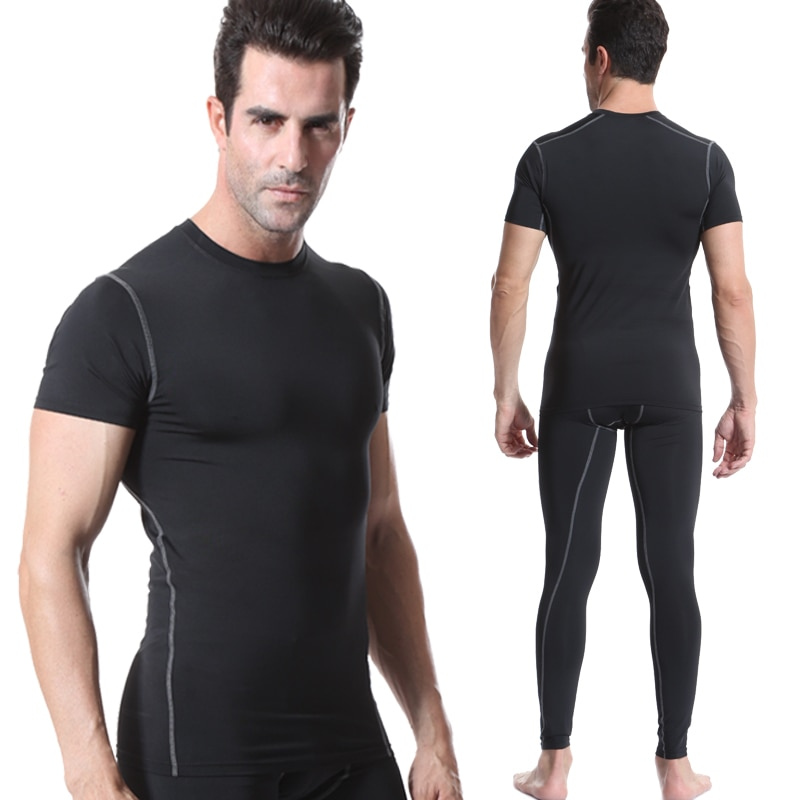 Fanceey 2019, trajes deportivos para hombres, chándal para hombres, camisa de compresión de manga larga, pantalones, ropa deportiva para hombre, conjunto deportivo para hombre, gimnasio, traje de Fitness