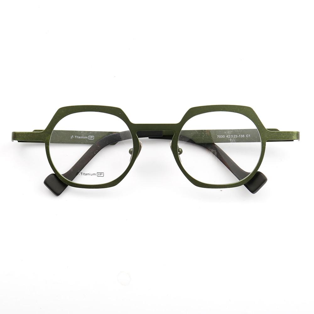 YOUTOP-إطار نظارة B-Titanium ، حماية دائرية ، للجنسين ، بدون وصفة طبية ، 7030