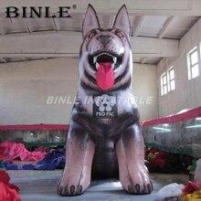 Chine fournisseur air froid attrayant géant gonflable husky chien grand gonflable animal mascotte ballon pour laffichage