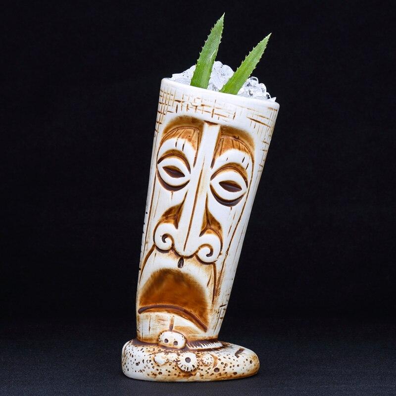 530ml Hawaii Ceramic Tiki Mug Creative Porcelain Beer Wine Mug Cup