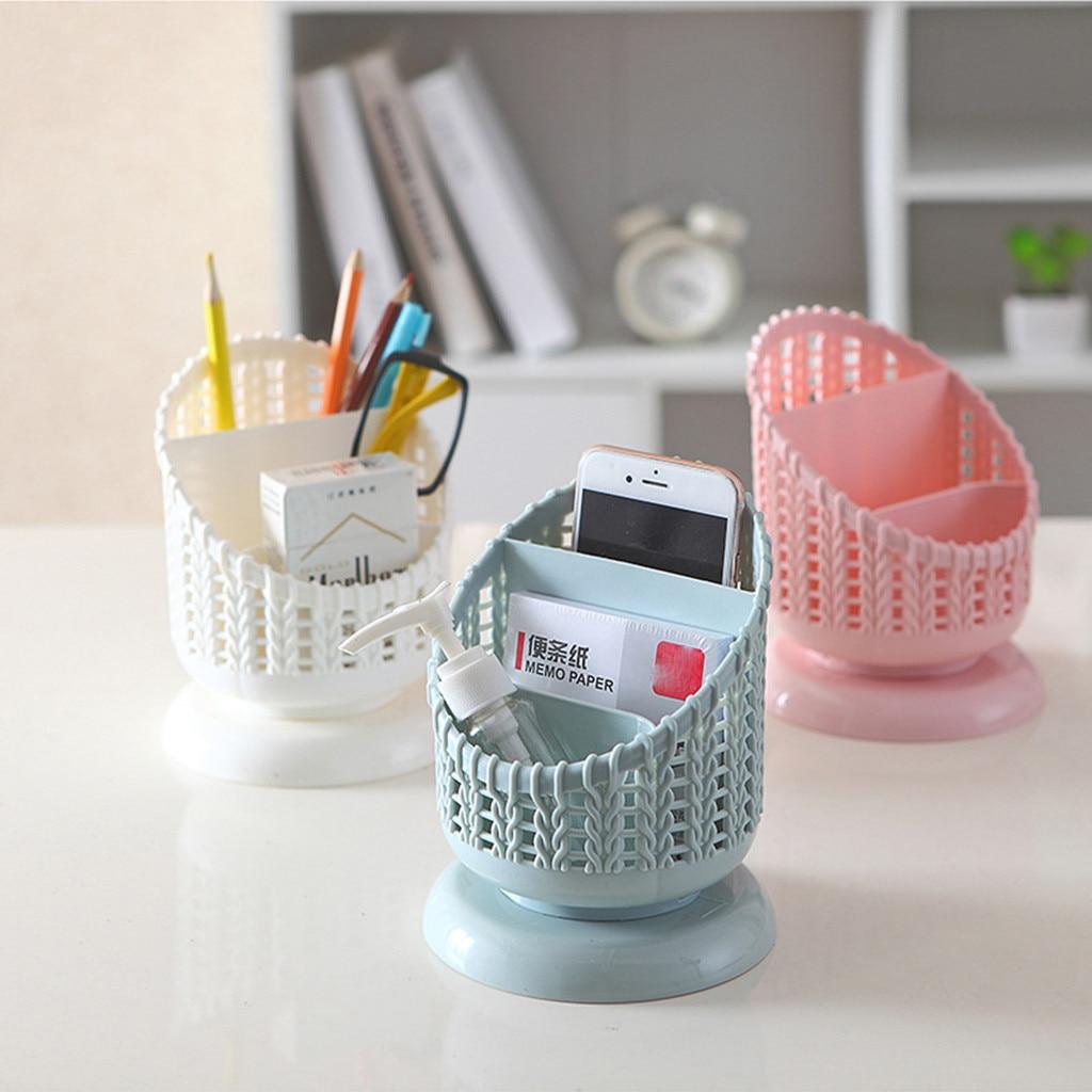 Cesta de plástico compacta de estilo encantador, forma Mini para cocina, baño, oficina, escritorio, cosas pequeñas, duradero, organizador de lápices