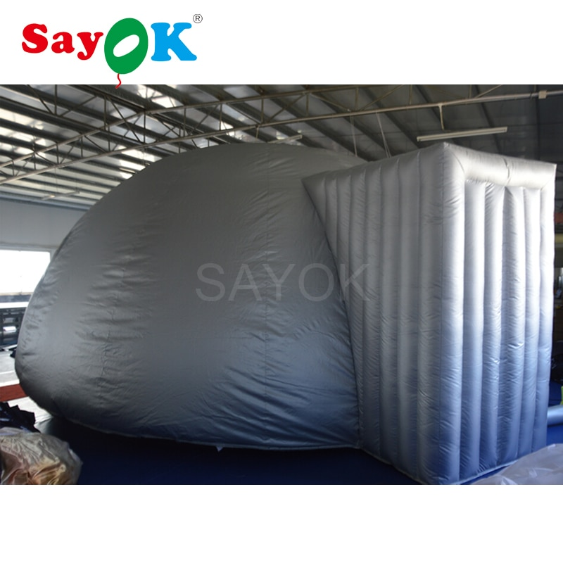 6 м Серебряная надувная купольная палатка-планетарий на продажу