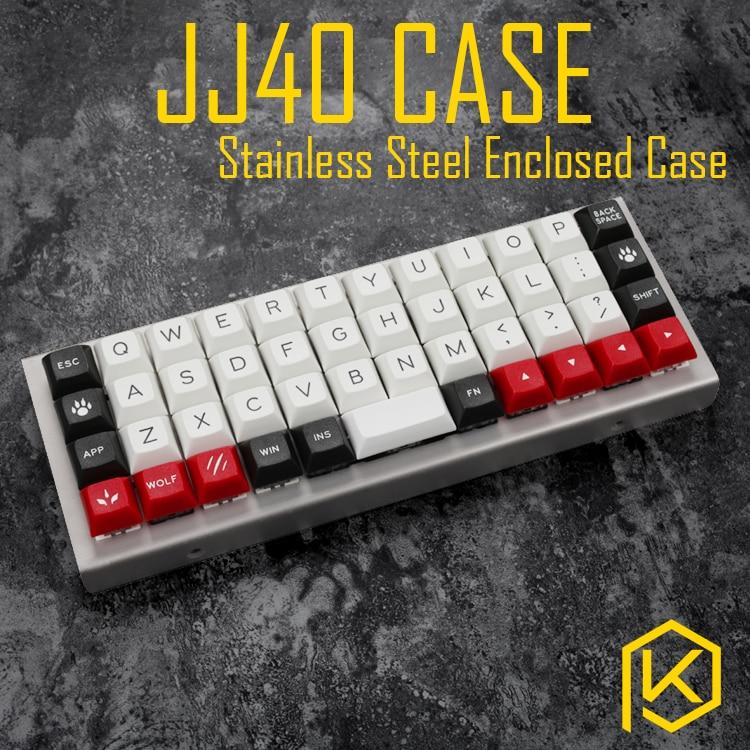 Изогнутый корпус из нержавеющей стали для jj40, 40% JJ40, закрытый чехол для клавиатуры на заказ, верхний и нижний корпус, также можно использоват...