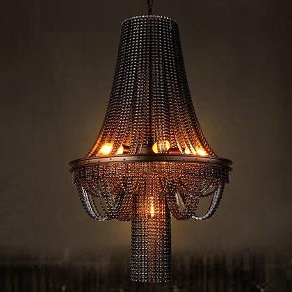IWHD Американский Винтаж промышленное освещение подвесные светильники железная цепь Lampara Лофт стиль ретон лампа спальня подвесные светильники