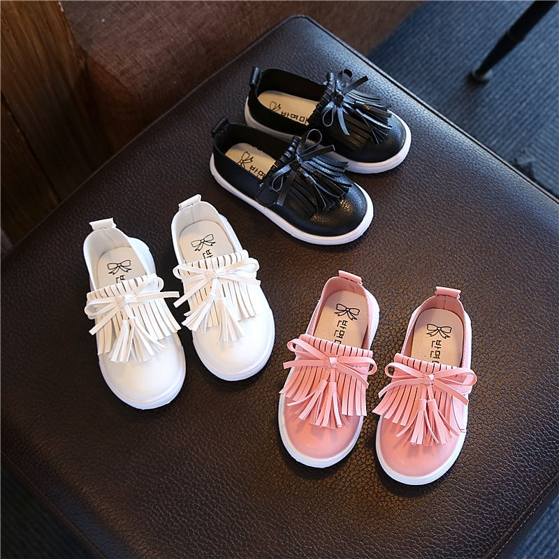 fashionable toddler baby kids shoes for boys girls training children's shoes tassel sneakers tenis i