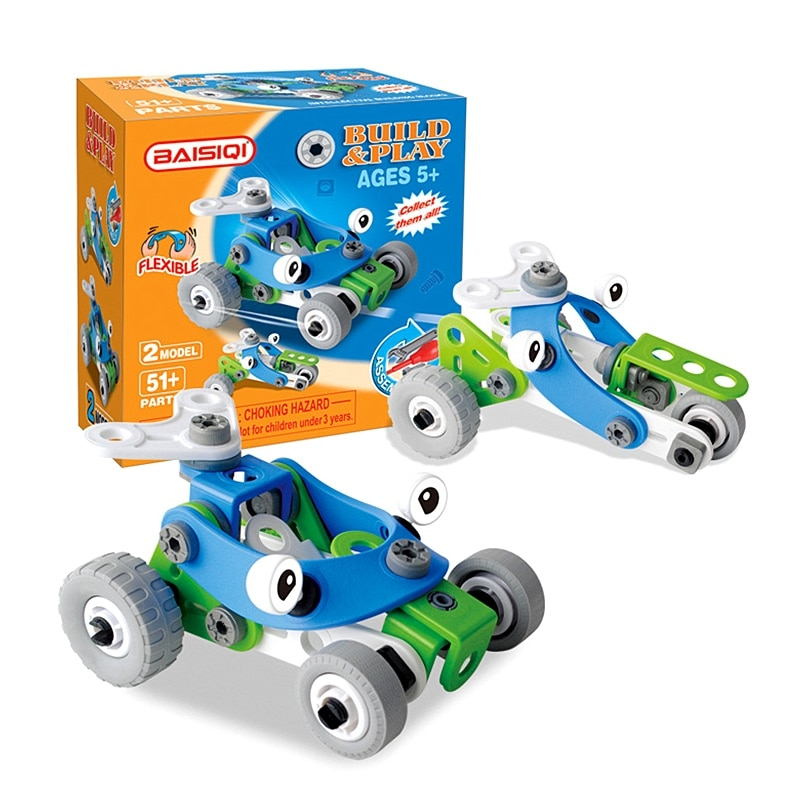 Creative Assembled Model Toy Car DIY Screw Nut Group Installed Puzzle Deformation Car Construction Toys Set for 3years up Boys