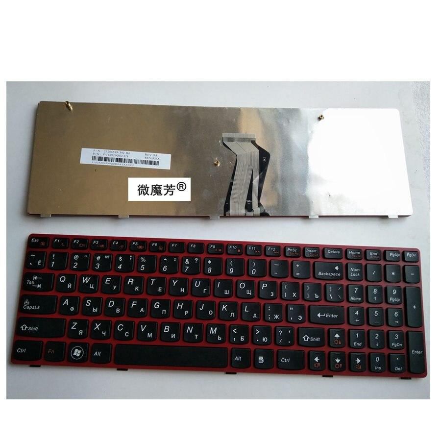 RU Gules Новинка для Lenovo G580 Z580A G585 Z585 G590 Клавиатура для ноутбука русская