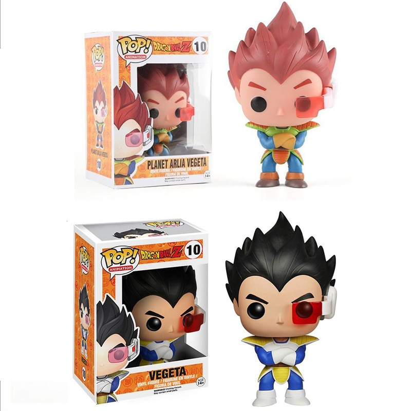 FUNKO POP de Dragon Ball Z planeta Arlia VEGETA exclusivo #10 de figuras de acción, muñecos de Anime de dibujos animados figura juguetes cumpleaños Gifts2F66