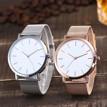 Hot Sale  Gold Sliver Mesh Stainless Steel Watches Women Top Brand Luxury Casual Clock Ladies Wrist
