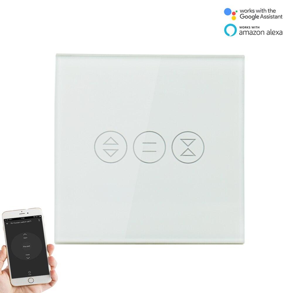 مفتاح حائط واي فاي ذكي مع تحكم صوتي للستائر الآلية والستائر الآلية ، متوافق مع Smart Life و Alexa و Tuya و Google Home