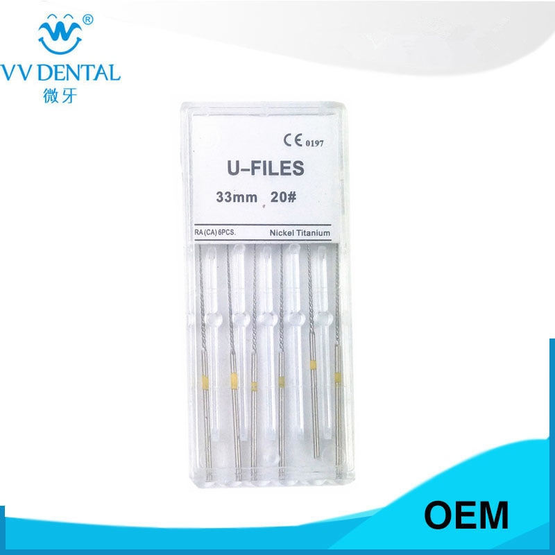 Dental endo endodontic U-FILE root canal file 20# for root canal washing for ems woodpecker satelec endo tip 2018 new arrival dental root canal irrigator flusher root canal washing machine with rinse head