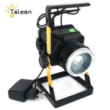 TSLEEN 3.7V IP65 Zoomable LED projecteur XM-L T6 3 Modes projecteur LED Rechargeable LED projecteur projecteur lampe de pêche pour Camping chasse