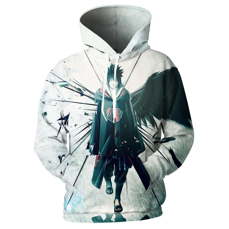 Sudadera con capucha 3D de Anime Naruto para hombre y mujer, Sudadera con capucha hípster Uzumaki Sasuke, ropa deportiva, jersey de abrigo sobredimensionado