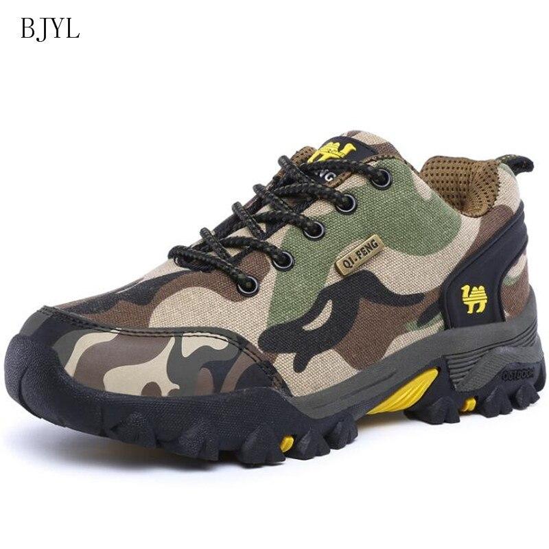 BJYL nuevos hombres de pie zapatos casuales zapatos de moda al aire libre zapatos de camuflaje zapatillas de deporte de los hombres zapatos de senderismo zapatos de B180